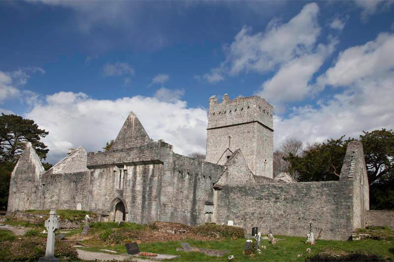 15th Century Muckross Abbey in Killarney National Park