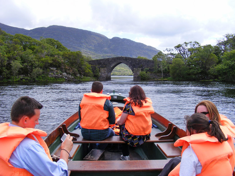 Heading for Brickeen Bridge on a Muckross Boat Trip