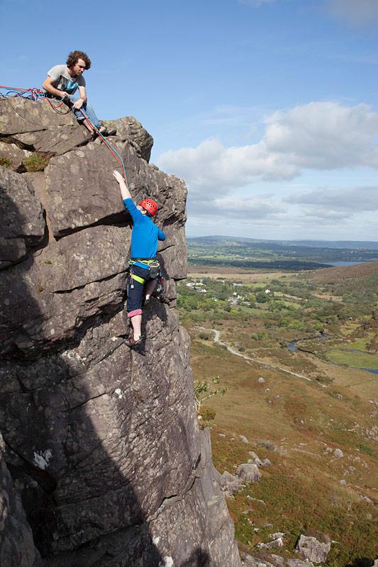 Rock Climbing at the Gap of Dunloe, Killarney