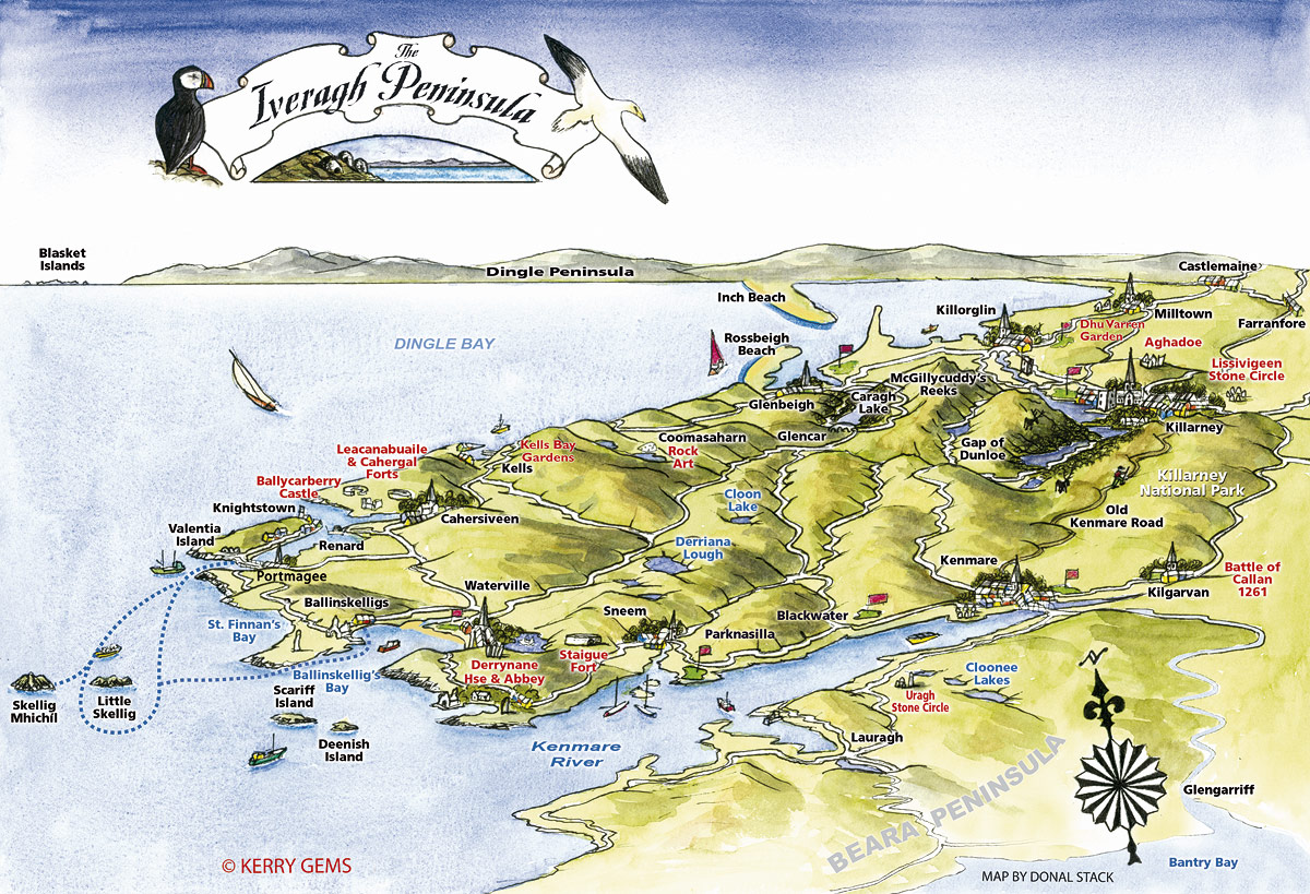 Ring of kerry on map