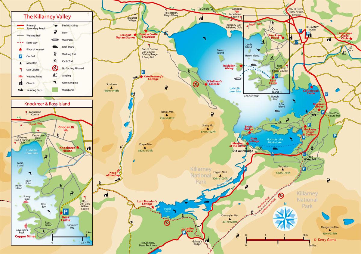Kerry Gems Killarney Maps