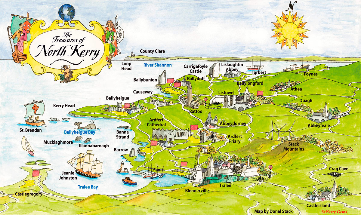 Ring Of Kerry Ireland Map