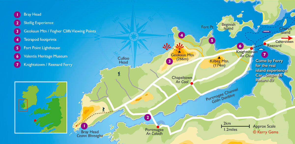 Kerry Gems Ring of Kerry Maps